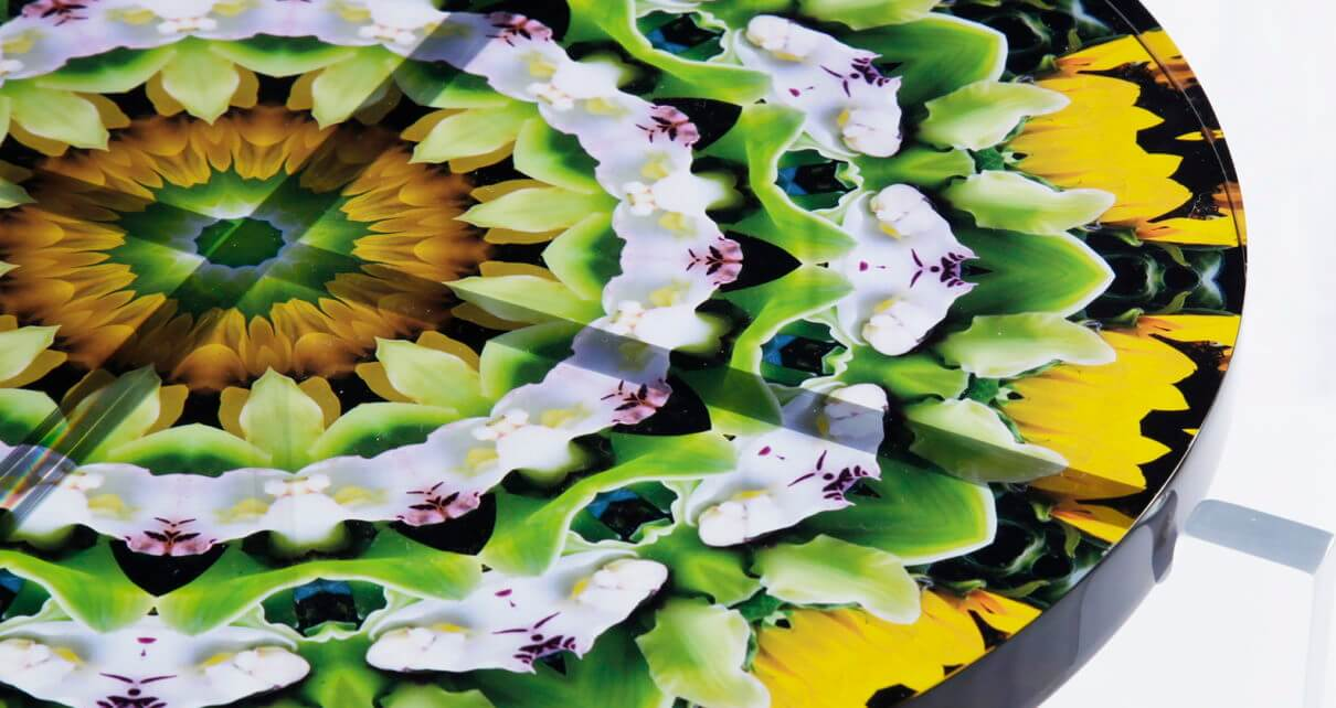 Mandala Acrylic Table Art Javier Gomez