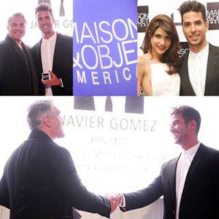 Javier Gomez winner of Maison & Object Americas Raising Talents receiving award