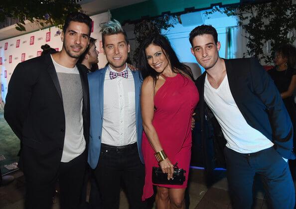 Javier Gomez, Lance Bass, Aymee Vasquez and Michael Turchin