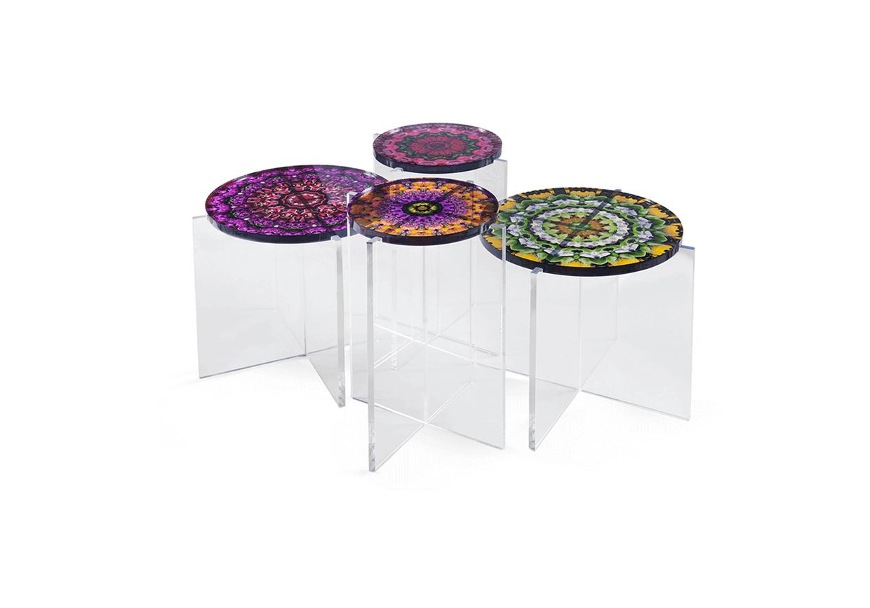 mandala tables acrylic