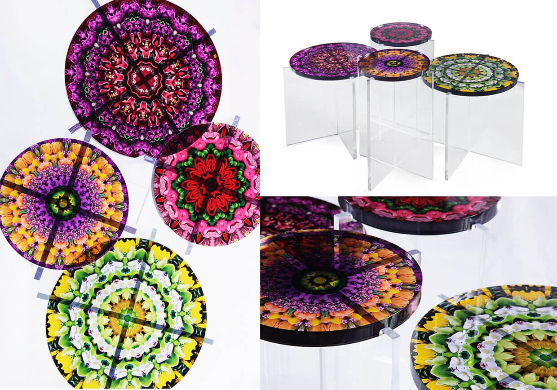 Mandala Acrylic Lucite Tables - JG Home - Javier Gomez