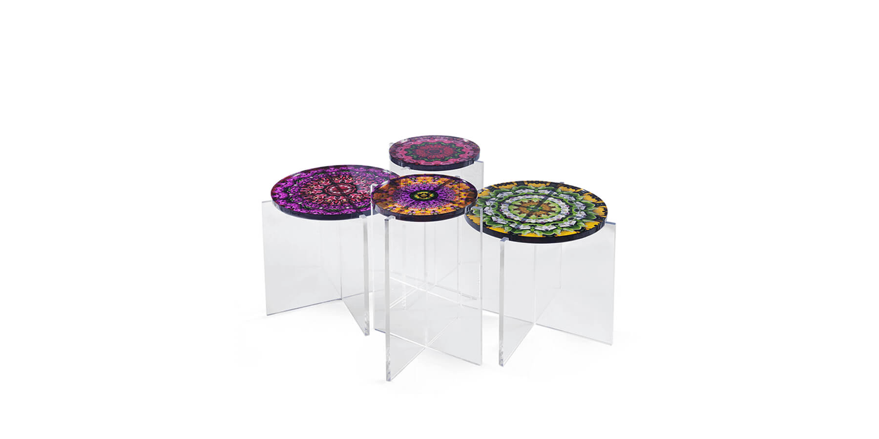 Acrylic Mandala Tables JG Home