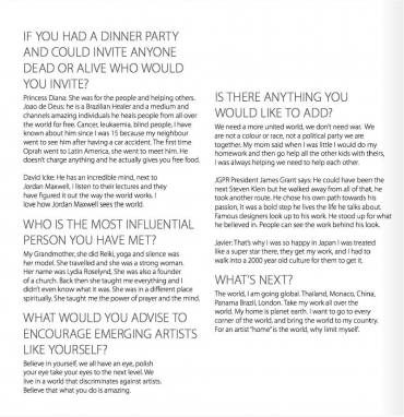 Javier Gomez on Creator Magazine