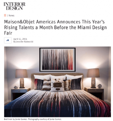Maison & Objet Americas Announces This Year's Rising Talents a Month Before the Miami Design Fair