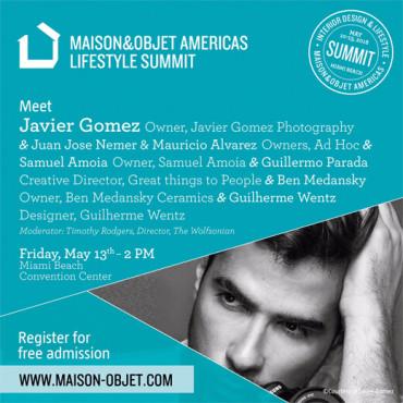 Javier Gomez winner of the Rising Talent Awards for Maison & Objet Americas in 2016