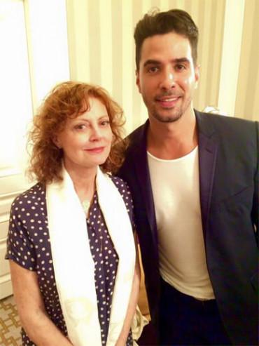 Susan Sarandon with Javier Gomez